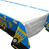 School Bus Tablecovers (2), Kindergarten Party Supplies, School Bus Birthday