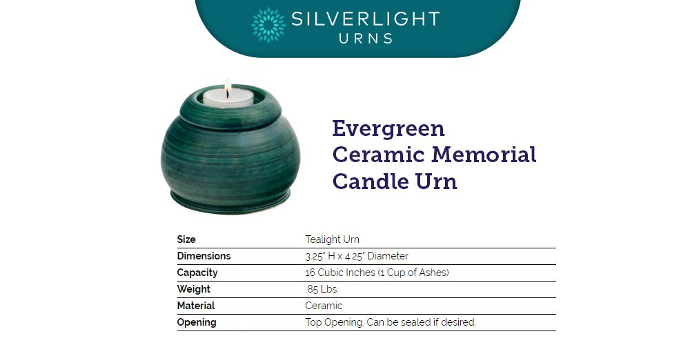 Amazon com: Silverlight Urns Evergreen Ceramic Memorial