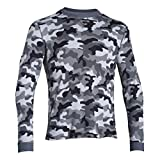 Under Armour Amplify Camo Thermal Crew - Men's Steel / Stealth Gray / Stealth Gray XL