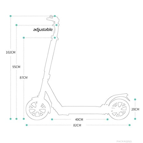 IG Micro Scooter Adulto Plegable de 100 Kg, Scooter Verde ...