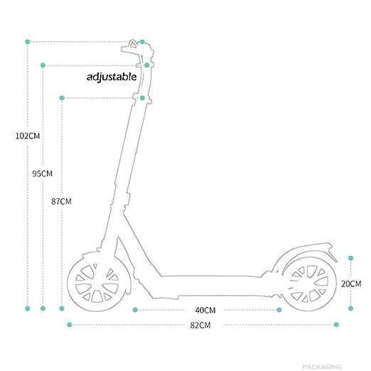 IG Micro Scooter Adulto Plegable de 100 Kg, Scooter Verde ...