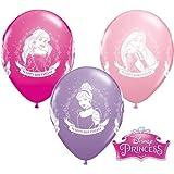 "Disney Princess Happy Birthday 11"" Qualatex Latex Balloons x 10"