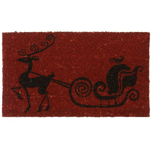 Rubber-Cal Rudolph The Red Nose Reindeer Holiday Christmas Mat 18 x 30-Inch