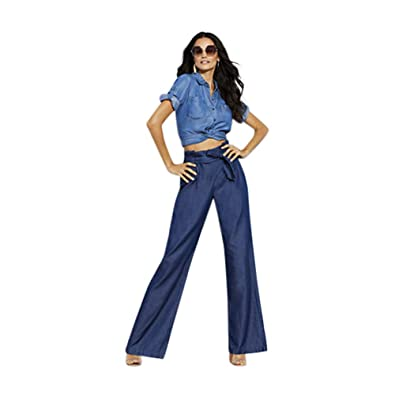 43e441383e0 New York   Co. Women s Soho Jeans - Paperbag Waist - Wide Leg - Rinse