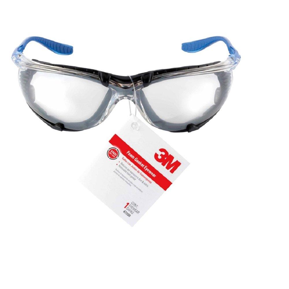 3-M COMPANY 47200-HT6 Gasket Design Safety Eyewear, Mirror, Anti-Fog