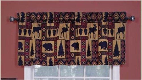 Moose Bear Trees Lodge kokopelli Tapestry Window Valance -