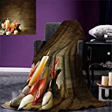 smallbeefly Spa Digital Printing Blanket Spa Composition Many Candles Wellbeing Unity Neutrality Icons Calm Happiness Theme Summer Quilt Comforter 80''x60'' Multicolor