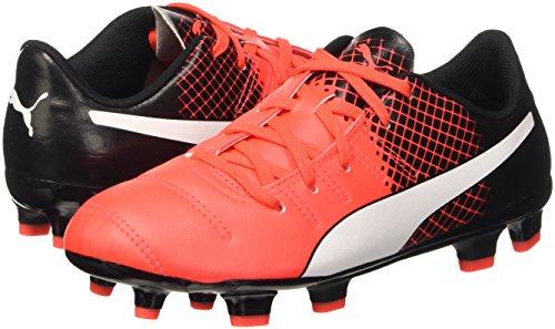 Puma - Botas de fútbol evoPOWER 4.3FG Jr Rojo (Blk/Wht/Red)