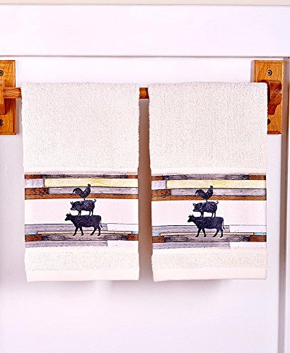 The Lakeside Collection Farm Life S/2 Hand Towels