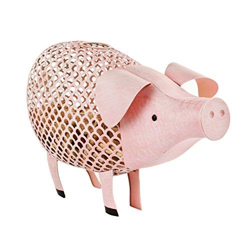 Twine 3168 Country Cottage: Pig Cork Holder Set of 1, Pink