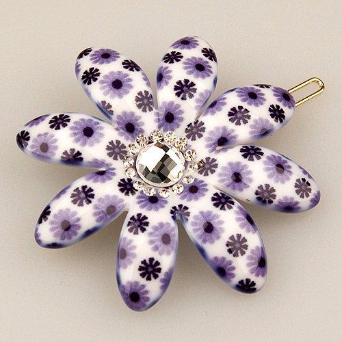 (Vignette Light Violet Petal - Cubitas Picabia Collection (Hand-set Swarovski Crystals, Hair Pin))