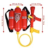 Fireman Toys Backpack Water Gun Blaster Extinguisher with Nozzle and Tank Set Children Outdoor Water Toy, Beach Toy, Summer Toys, Bath Toy for Kids Gifts
