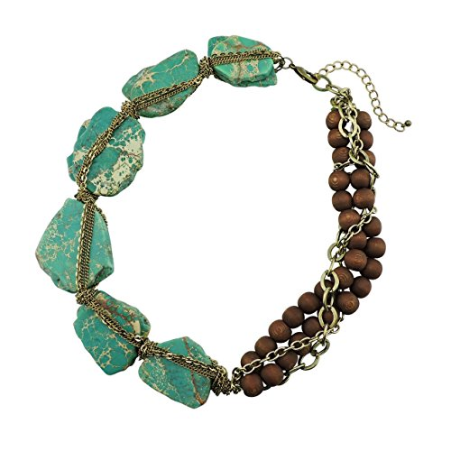 BOCAR Personalized Big Statement Turquoise Chunky Collar Chain Necklace for Women Gifts (lucite green) (Lucite Necklace Chunky)