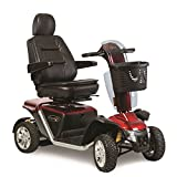 Pride Mobility - Pursuit XL - Heavy Duty Scooter - 4-Wheel - Candy Apple Red - PHILLIPS POWER PACKAGE TM - TO $500 VALUE