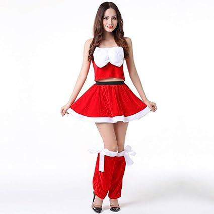 Yunfeng Disfraces de Papá Noel para Mujer Nudo de Mariposa ...