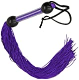 Sportsheets 22″ Large Rubber Whip, Purple/Black