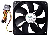 APEVIA 120mm 4pin+3pin Black Case Fan CF12S-BK