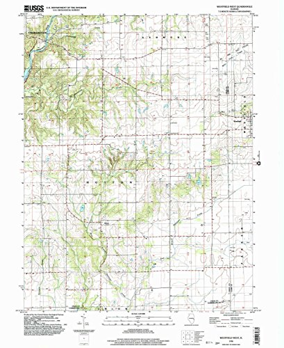 Westfield West IL topo map, 1:24000 scale, 7.5 X 7.5 Minute, Historical, 1998, updated 2003, 26.8 x 22 IN - - City Westfield West
