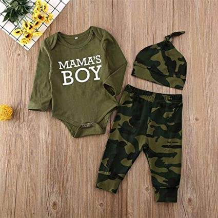 hirigin Hellow World Newborn Outfit for Baby Shower Long Sleeve Romper Pants Hat Baby Boy Clothes
