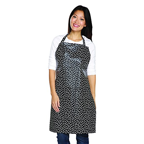 Top Performance  Waterproof Aprons - Stain-Resistant PVC Aprons for Professional Groomers, Black