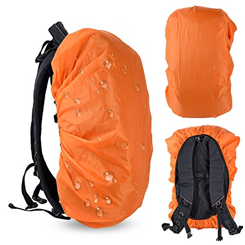 Waterproof Backpack Rain Cover, Ultralight Water Resistant Stored Bag Suitable for 30-40L Backpack, Rainproof Protector Pack Covers For Camping, Hiking, Climbing, Cycling Traveling Outdoor Activities ()