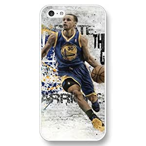 UniqueBox - Customized Personalized White Hard Plastic iPhone 5C Case, NBA Golden State Warriors Superstar Stephen Curry iPhone 5C case, Only Fit iPhone 5C Case