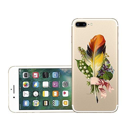 Funda iPhone 7 Plus Carcasa Silicona Gel Mate - Wouier® Case Ultra Delgado TPU Goma Flexible Transparente UltraSlim Case Cover Skin para iPhone 7 Plus G