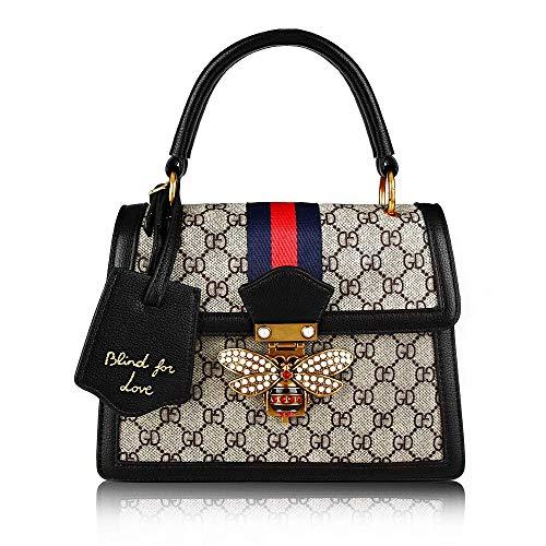 Ophlid Designer Women HandbagS, Retro Shoulder Bag Ladies Bee Bag Top Handle Hanfbag (green)