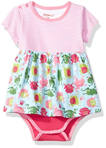 (Zutano Baby Girls' Romper Dress, Frog Princess 12M (6-12)