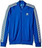 adidas Originals Men's Superstar Track Jacket, Blue, Large