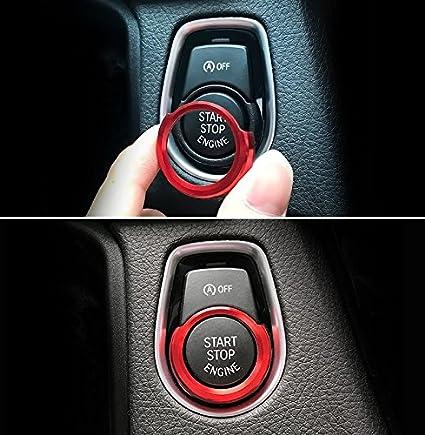 JessicaAlba Aluminum Car Engine Start Stop Ignition Key Ring Car Auto  Interior Decoration For BMW F30 316i 320i 328i F20, etc