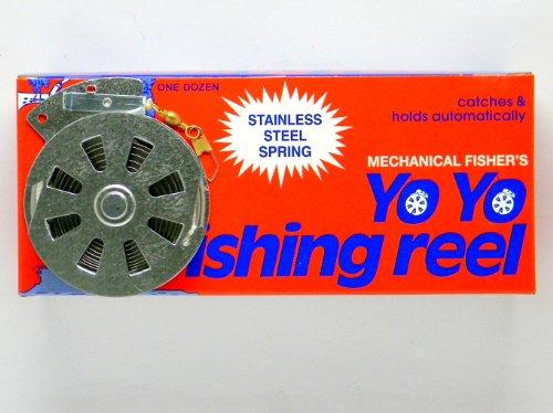 12 Mechanical Fisher s Yo Yo Fishing Reels Flat Trigger Model
