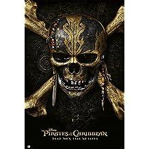 "Pirates Of The Caribbean 5: Dead Men Tell No Tales - Movie Poster / Print (Teaser - Skull & Crossbones) (Size: 24"" x 36"")"