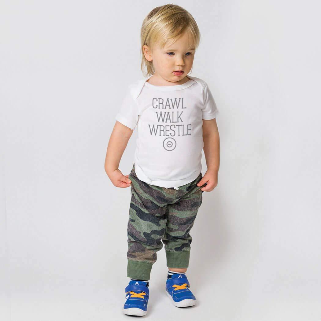Crawl Walk Wrestle Colors /& Sizes Wrestling Baby /& Infant T-Shirts