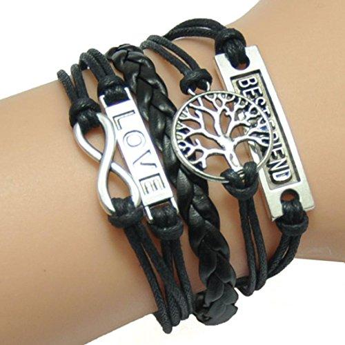 Bestpriceam Hot Sale! Handmade Adjustable Tree for Life Wings Multilayer Bracelet Wristband (Style_1)