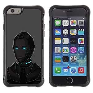 """Pulsar iFace Series Tpu silicona Carcasa Funda Case para Apple (4.7 inches!!!) iPhone 6 , Arte Ojos azules Robot Ai Tecnología Futuro"""""""