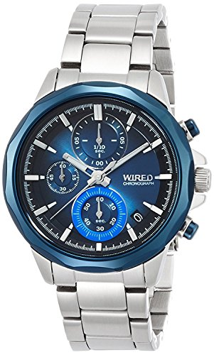 "WIRED watch WIRED THE BLUE ""WATER BLUE"" CHRONOGRAPH MODEL AGAT409 Men"