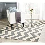Safavieh Courtyard Collection CY6245-246 Grey and Beige Indoor/Outdoor Square Area Rug, 4 Feet Square