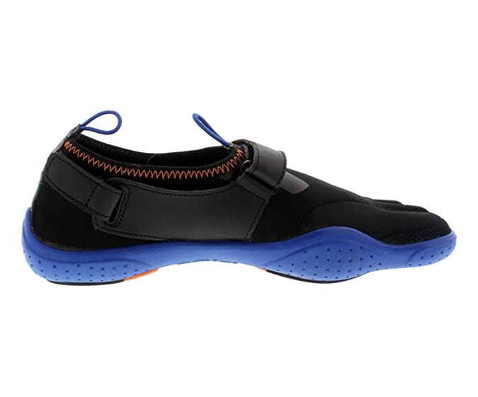 fe779dad5f98b FILA Skele-Toes EZ Slide Drain Black/Turkish SEA/Orange Mens Running
