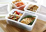Bento Lunch Box Meal Prep Containers (2 PACK) - Airtight Food Storage Containers With Lids, Portion Control Containers, Meal Prep Containers, Lunch Containers, Reusable By FIT, STRONG & HEALTHY