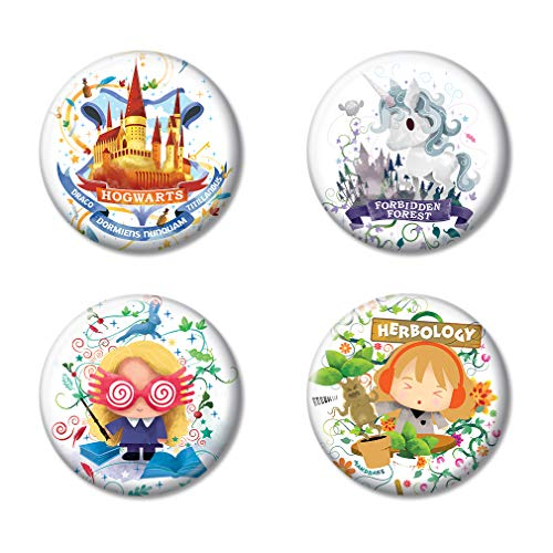 Harry Potter Button - Ata-Boy Harry Potter Charms Assortment #2 Set of 4 1.25