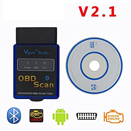 DLSEAUTO Mini Elm327 Bluetooth OBD2 V2.1 Elm 327 OBDII protocolos Auto código escáner Elm