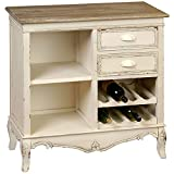 Country Kitchen Buffet Hill Interiors Country Small Buffet/Wine Rack (One Size) (Antique Cream)
