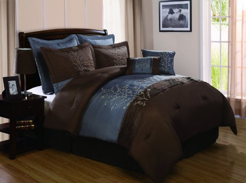 Chocolate brown and blue bedding sets for Blue and brown bedroom