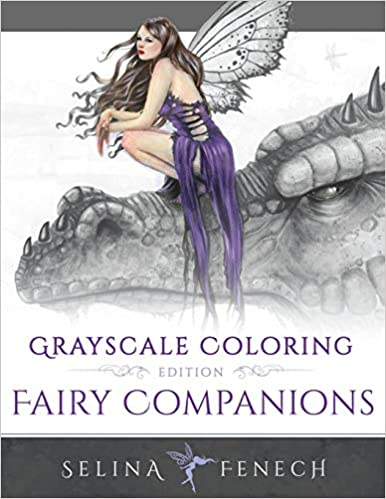 fairy companions grayscale coloring edition grayscale coloring books by selina volume 4