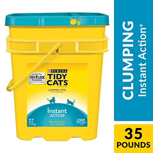 Purina Tidy Cats Clumping Cat Litter, Instant Action Multi Cat Litter - 35 lb. Pail (Arm And Hammer Multi Cat Litter Ingredients)