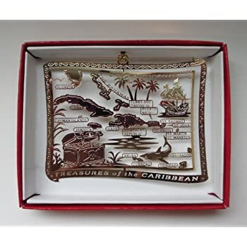 Amazon.com: Caribbean Islands Christmas ORNAMENT Cayman St Thomas ...