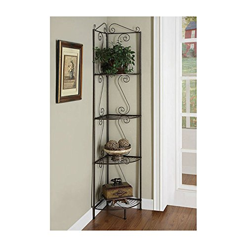 standing-corner-bakers-rack-copper-storage-metal-kitchen-shelves-stand-plant-decor-guaranteed-qualit