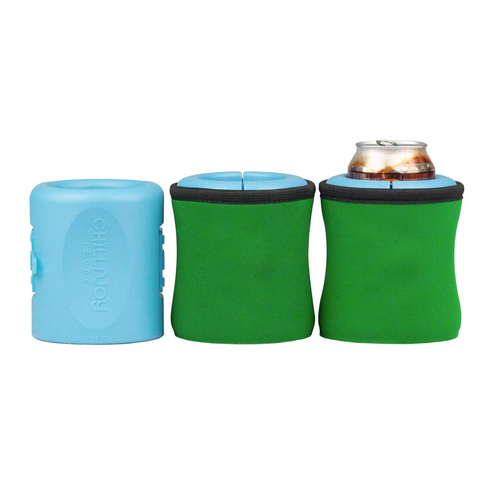 iCube - Gel-infused, Instant Beverage Chiller. 4-Pack: Red, Green, Blue, Black by ChillnJoy (Image #2)