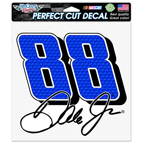 NASCAR Dale Earnhardt Jr. Perfect Cut Color Decal, 8 x 8-Inch